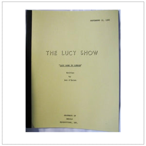 The Lucy Show Script 9/12/66
