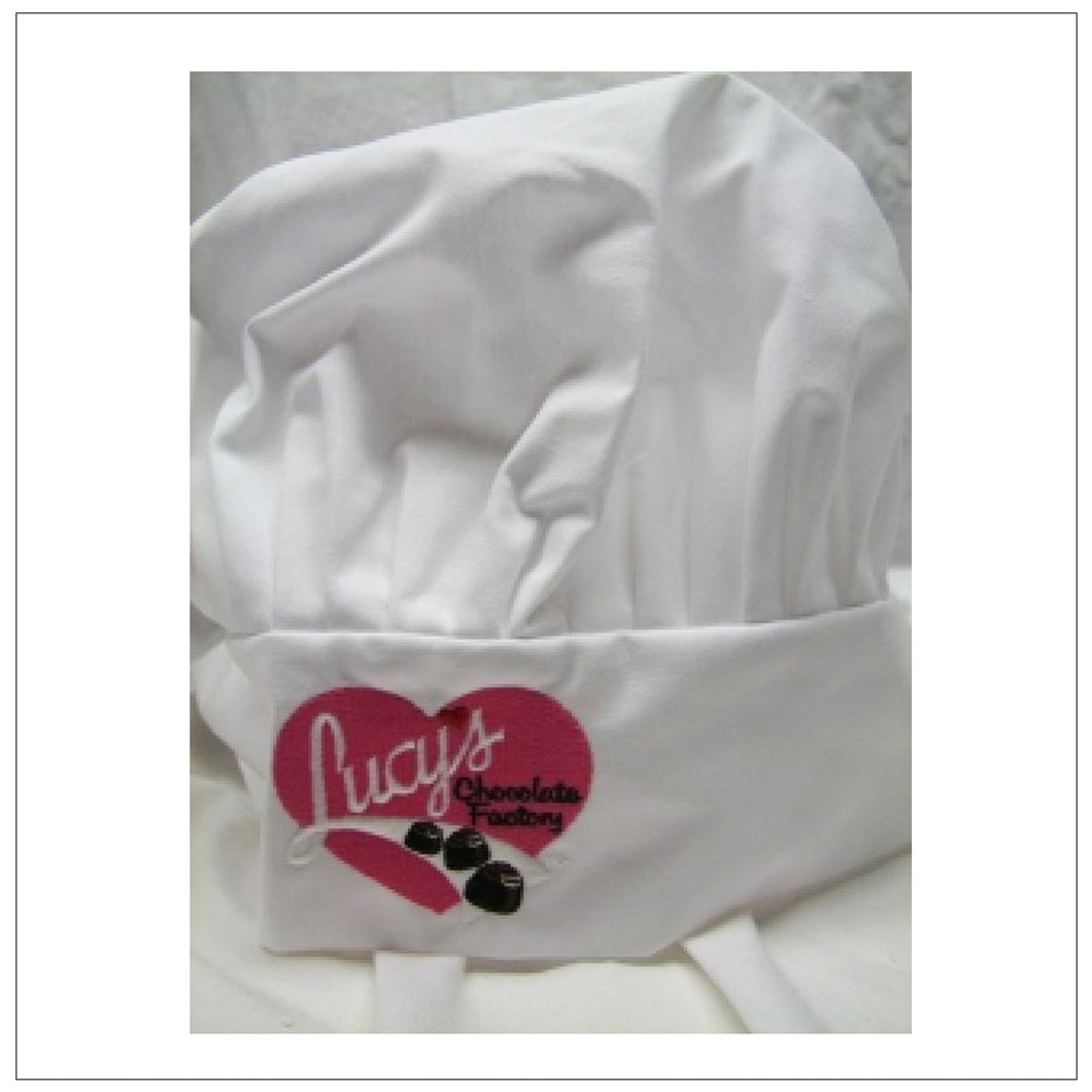 White Chocolate Factory Chef Hat