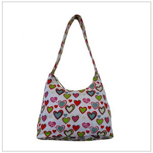 White Small Heart Hobo