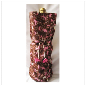 Wine Bag Chocolate Pink