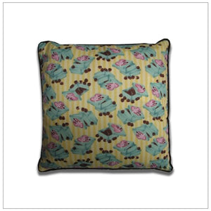 "Yellow Candy Boxes 16"" Pillow"