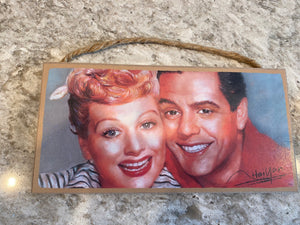Lucy and Ricky Plaque/Sign