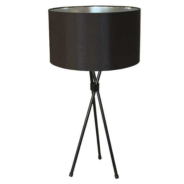 Tripod M/Steel Black Table Lamp