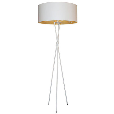 Tripod M/steel - White Floor Lamp