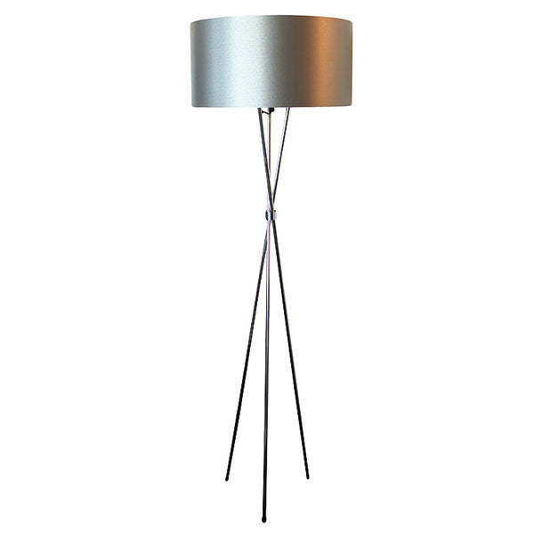 Tripod M/steel - S/steel Floor Lamp