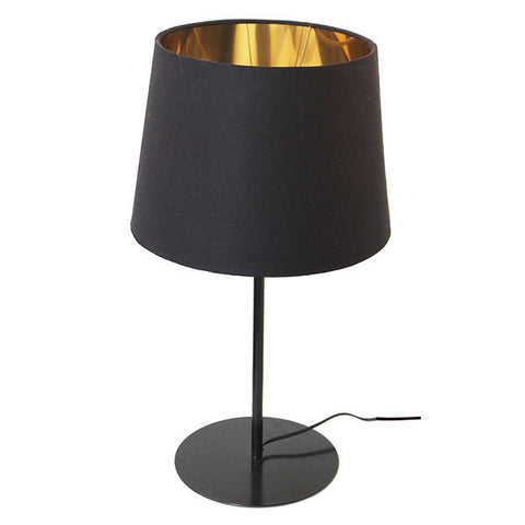Metal Upright Gold & Black Table Lamp