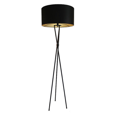 Tripod M/steel - Black Floor Lamp