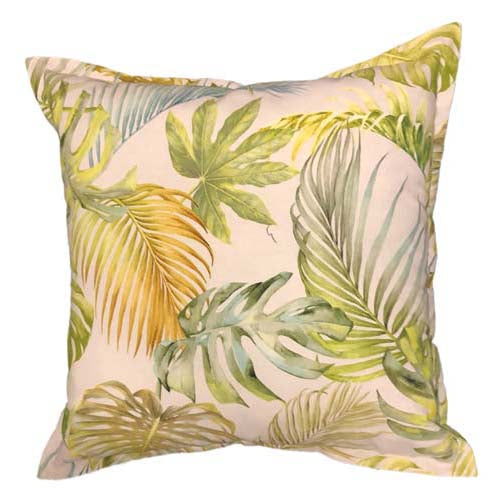 Palm trees on white fabric