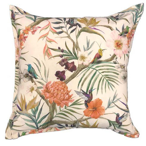 Plum Humming Bird Cushion