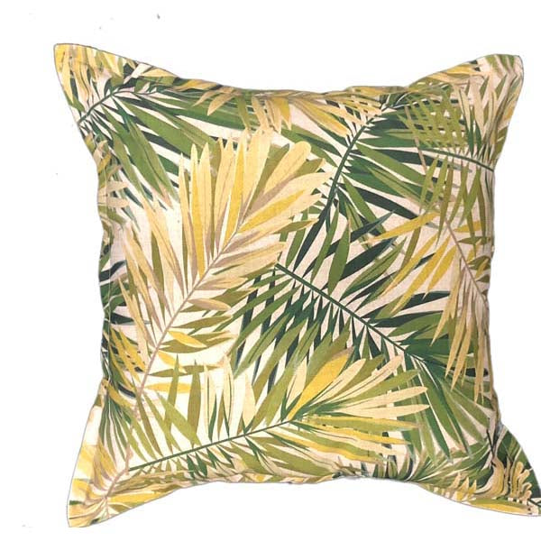 green frond - Scatter cushion with frond leaf print