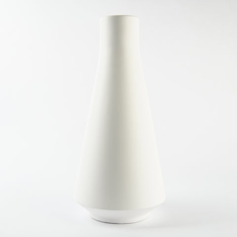 Kiana White Ceramic Vase
