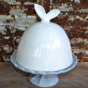 Ceramic Bunny Ears Cake Dome
