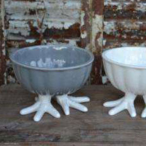 Ceramic Chicken Feet Bowls