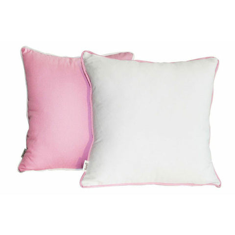 'Pop' Pink & White scatter cushion