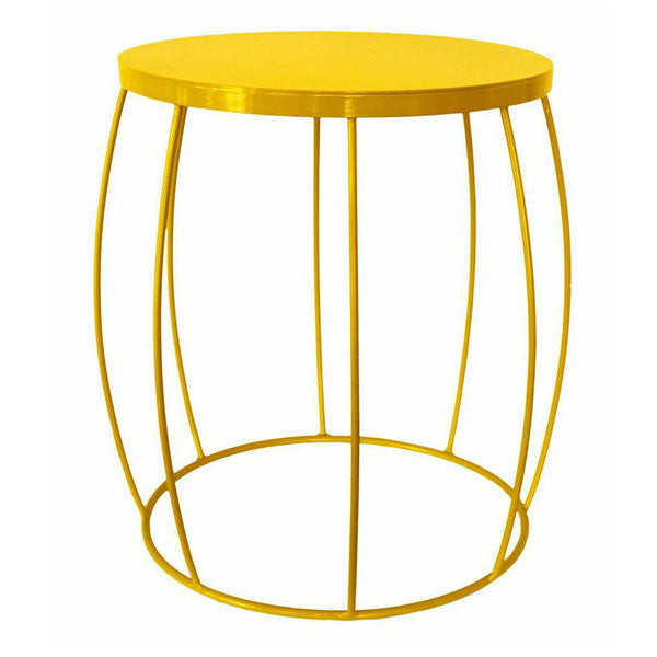 Yellow wire barrel side table modern furniture yellow wire barrel side table home decorations keyboard keysfo