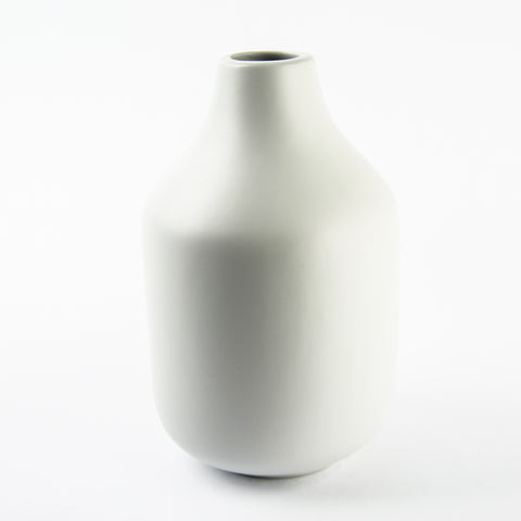Calli Bulb Light Grey Ceramic Vase
