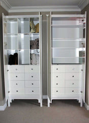 Tall White Cupboard Open | Cupboards with Drawers