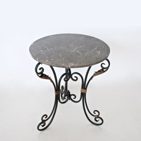 Marble & Iron Round Table