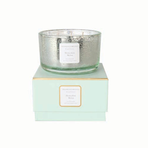 Honey Dew and Melon Large Candle Glass Pot