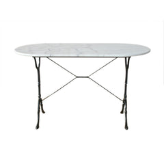 White Marble Oval Top Table