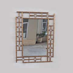 Gold Metal Chinese Design Mirror
