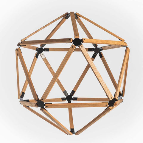 Hex Wooden Light with Brackets