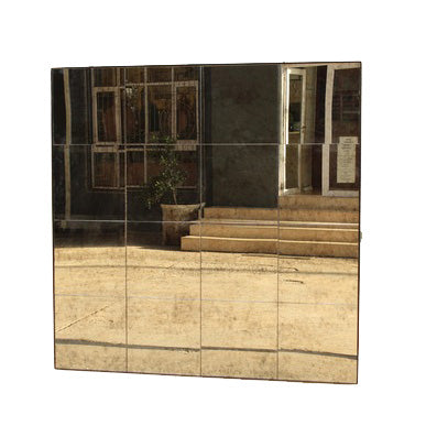 16 PANE ANTIQUE MOTTLED MIRROR