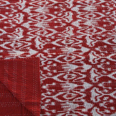 IKAT RED COTTON THROW