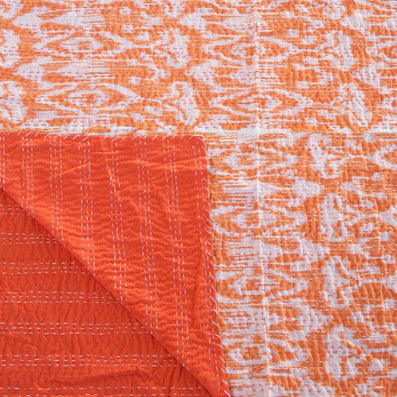IKAT ORANGE COTTON THROW