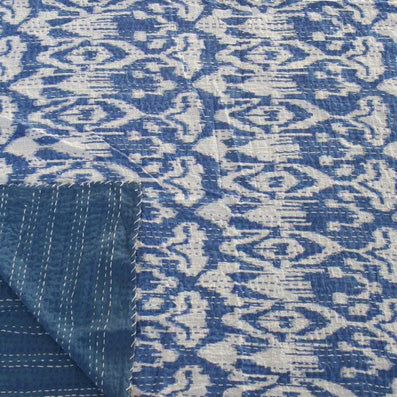 IKAT BLUE COTTON THROW
