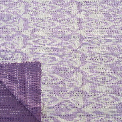 IKAT LILAC COTTON THROW