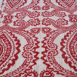 RED BIG PRINT IKAT BEDCOVER