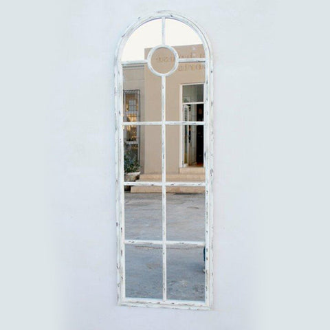 Cream Distressed Iron Mirror