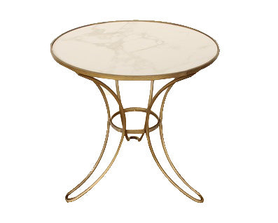 Round Gold and Marble Table