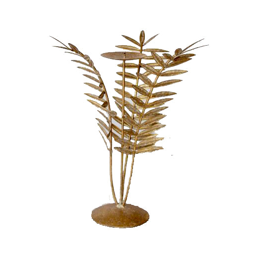 3 Fern Leaf Candle Holder