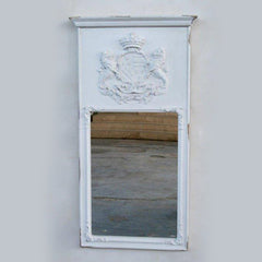 White Washed Crest Mirror