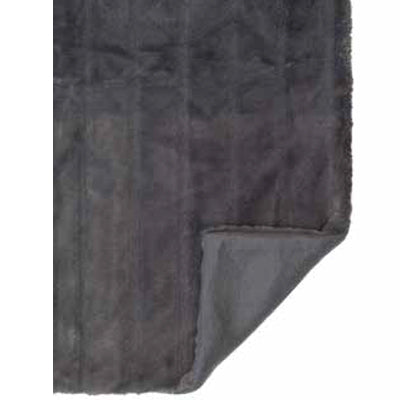 Mink Faux Fur Throw in Charcoal