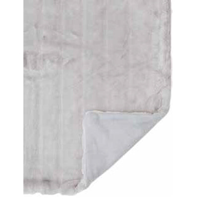 Mink Faux Fur Throw in Grey Sky