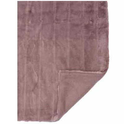 Mink Faux Fur Throw in Mauve