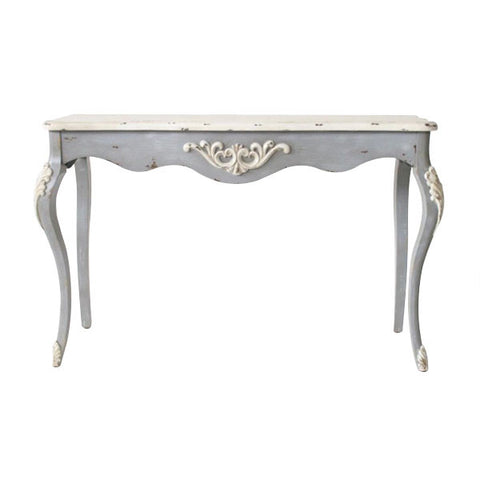 DISTRESSED GREY & WHITE WOODEN SERVER