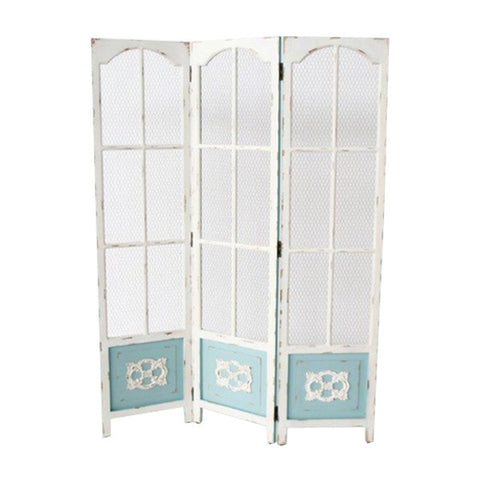 3 DIVISION DISTRESSED BLUE & WHITE SCREEN