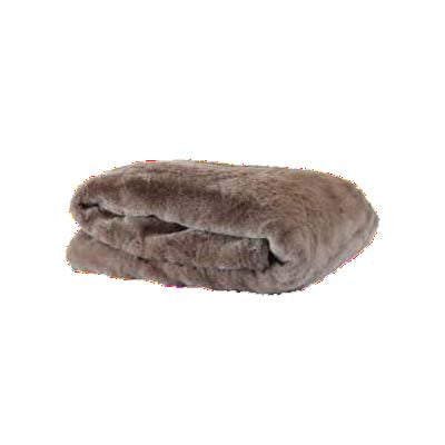 Mink Fur Cocoa Throw