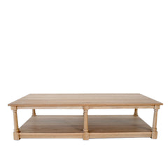 Oak Coffee Table with Shelf