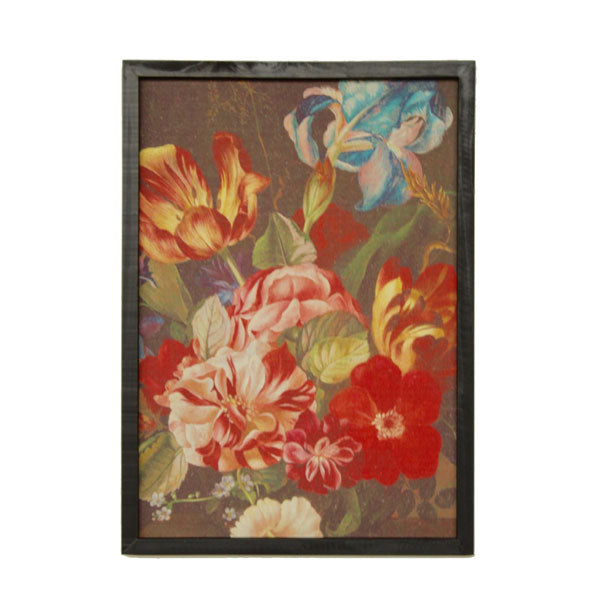 Iris Floral Framed Picture