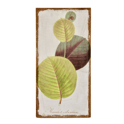 Green Leaves Hessian Picture