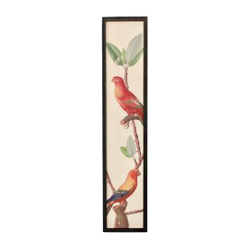 Red 2 Bird Framed Picture