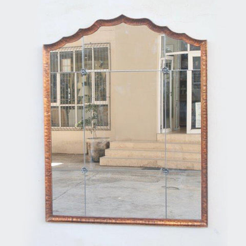 Copper shaped mirror