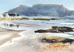 Blaauwberg and Table Mountain Painting | Paul Andrew Art