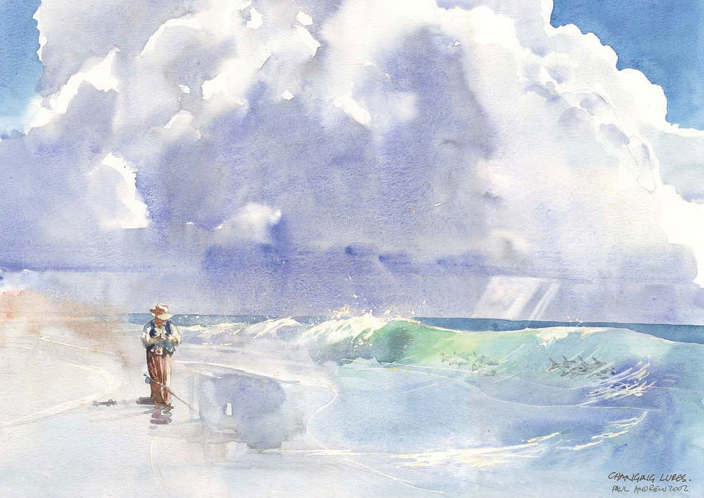 Changing Lures in the Surf | South African Paintings