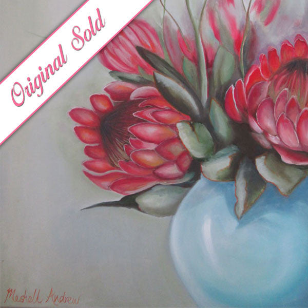 Proteas | Meshell Andrew Oil paintings